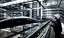 Системы прокладки кабелей:  металлические кабельные лотки; кабельные каналы; пластиковые трубы (гофрированные, жесткие, гибкие); металлорукав оцинкованный (ДКС, OBO Bettermann, Копос)