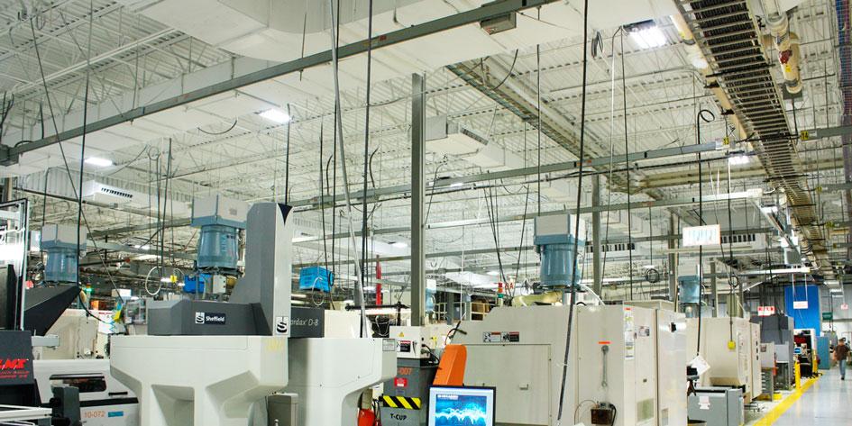 светодиодное освещение промышленных объектов, заводов, фабрик, складов, цехов, производственных площадей